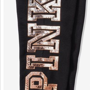 PINK Victoria's Secret Other - LARGE VS Pink Bling Hoodie Pant Set NEW
